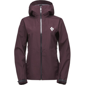 Black Diamond Liquid Point Shell Jacket Women Bordeaux
